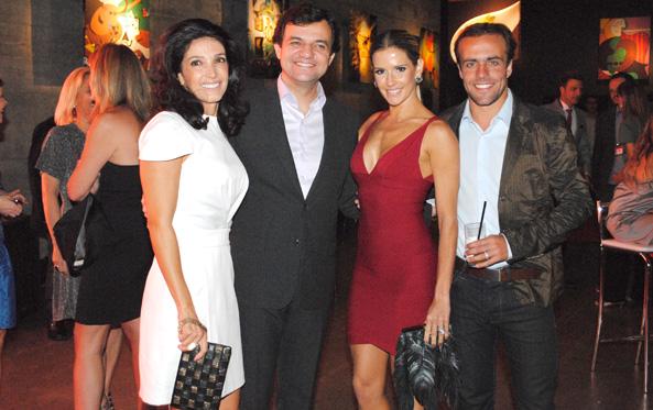 Cláudia Barroso, Líbano Barroso, Deborah Secco e Roger