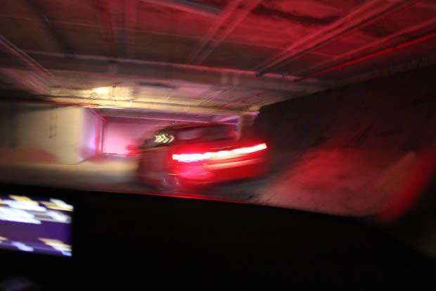 Audi dando cavalinho de pau