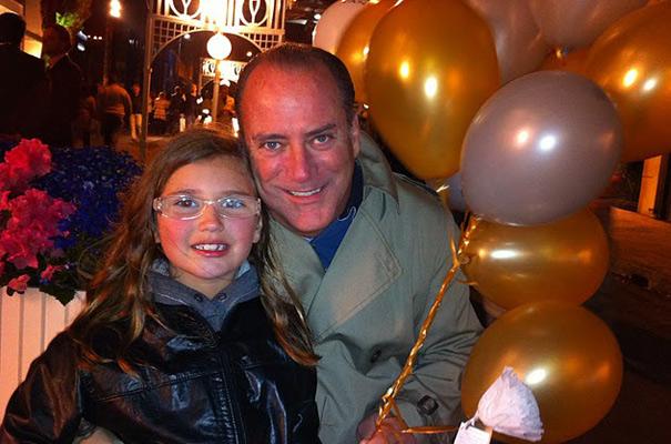 Bobby Krell com a filha Manuela