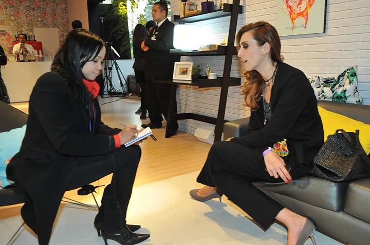 Chiara Gadaleta em entrevista no Lounge da Oi