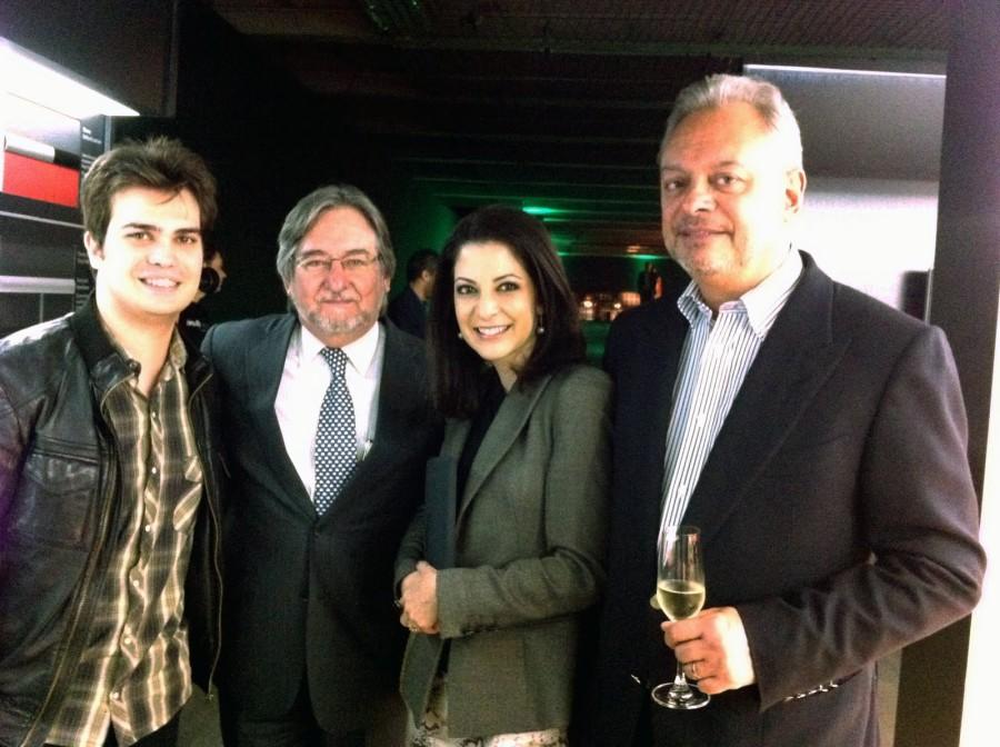Leo Von, Flávio Padovan Ana Paula Padrão e Walter Mundell