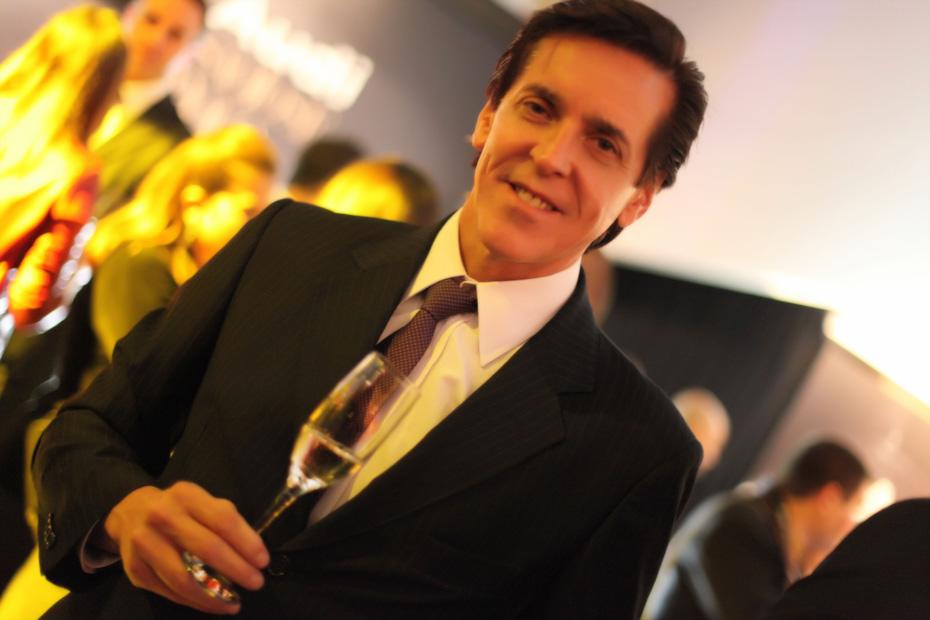 Presidente da Moet Candon doBrasil, Ségio-Degese, no site ClaCridéias