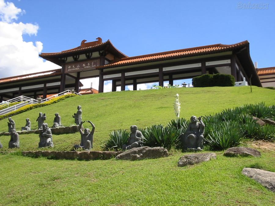 Templo Budista Zu Lai   Divulgação