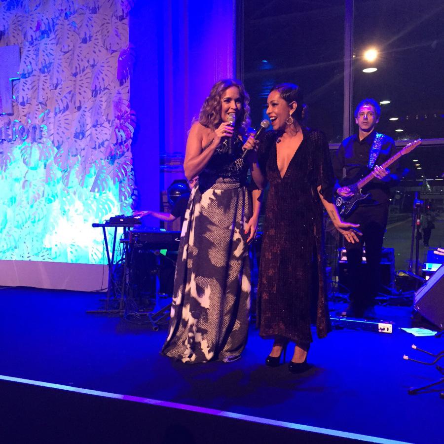 Daniela Mercury e Samantha Schmutz   Reprodução BrazlFundation