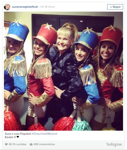 Xuxa postou foto no Instagram | Foto: Arquivo pessoal | Reprodução