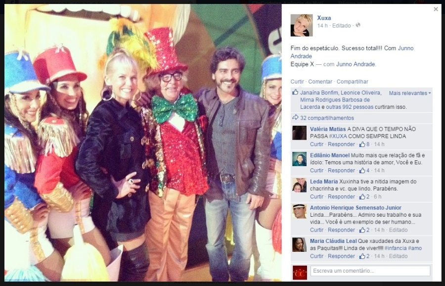 A loira em sua page no Facebook |Foto: Arquivo pessoal | Reprodução