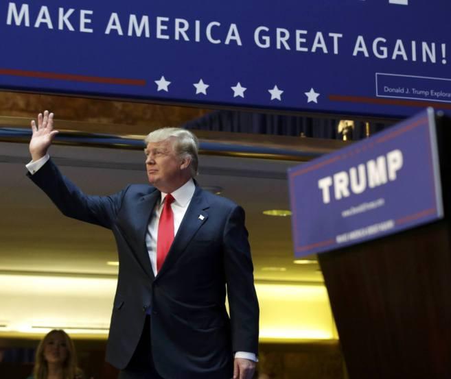 Donald Trump em seu anúncio de candidatura à presidência (Foto: Reprodução)