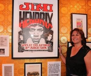Janie Hendrix, irmã de Jimi Hendrix na exposição em São Paulo (Foto: Reprodução)