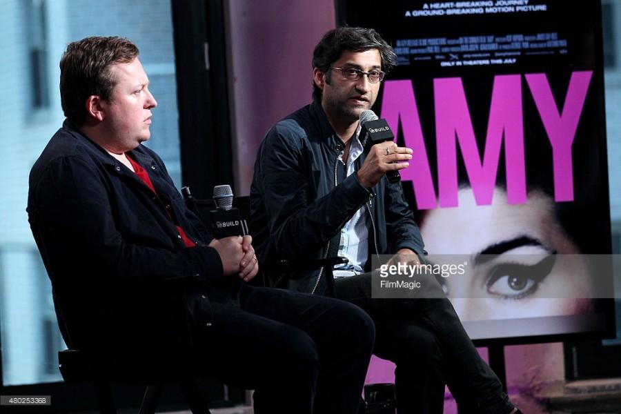 O gerente de carreira, Nick Shymansky, e o diretor Asif Kapadia, falam sobre o filme na AOL Studios, em Nova Iorque