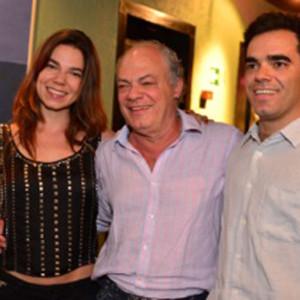 Carlos Rios com os filhos Guilherme e Olivia (Foto: Divulgação)