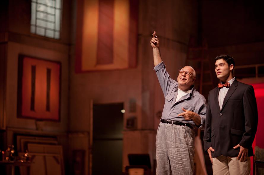Bruno e Antonio Fagundes dividiram o palco no espetáculo Vermelho