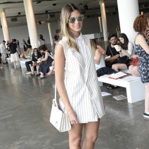 Anna Fasano também usou look branco ontem (Foto: Reprodução)