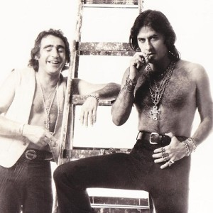 Luiz Gustavo e José Guerreiro na década de 70