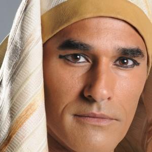Luciano Szafir como Mekete, de Os Dez Mandamentos (Foto: Reprodução)