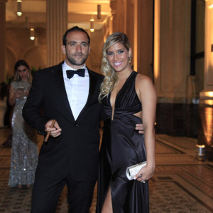 Daniel Nasser da We Clap e Mariana Galo na The Godfather Party (Foto: Divulgação)