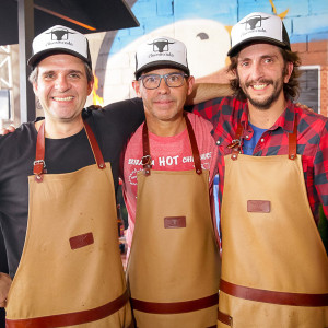 André de Luca, John Tesar e Diego Perez Sosa (Foto: Divulgação)