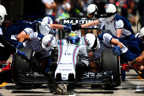 Felipe Massa, Williams no Pit Stop (Foto: Reprodução)