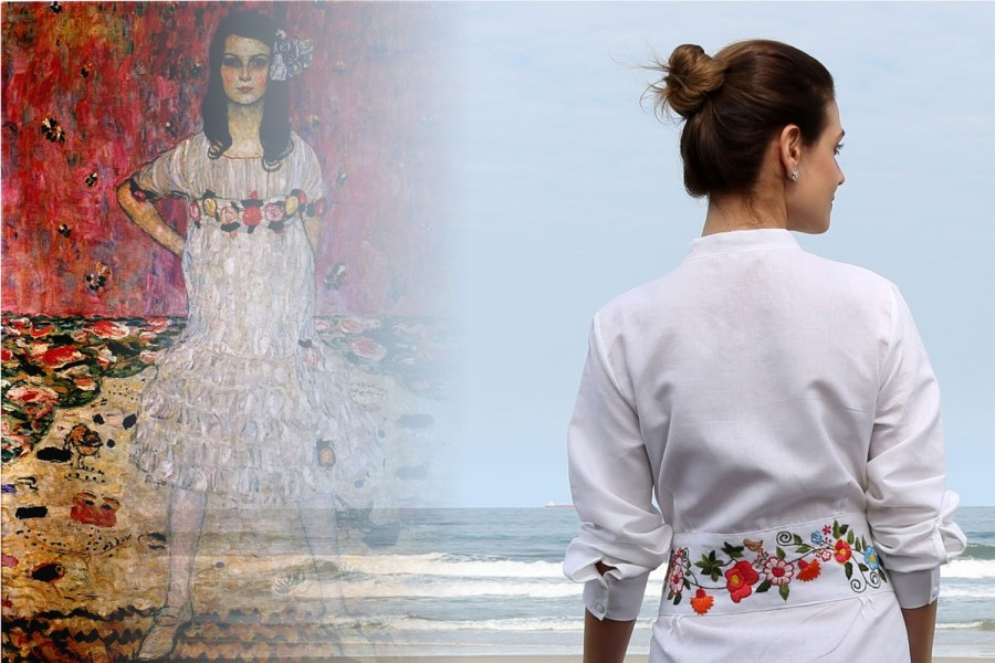Maries se inspira na obra de Gustav Klimt (Foto: Divulgação)