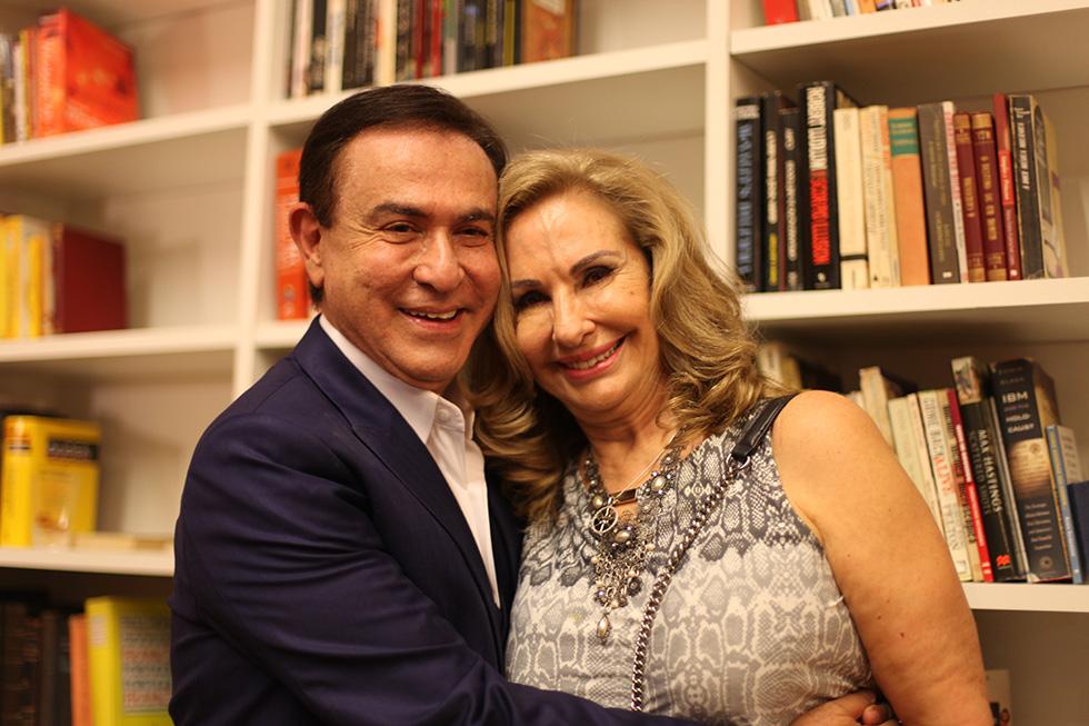 Amaury Jr e Celina (Foto: Nair Barros)