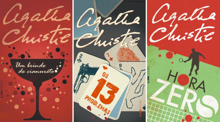 Capas dos livros de Agatha Christie (Foto: Divulgação)