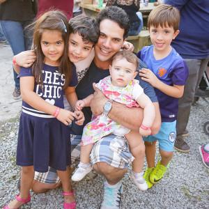Maria, Guilherme, Luis e Rafaela Pepi com Leonardo Mattiussi (Foto: Divulgação)