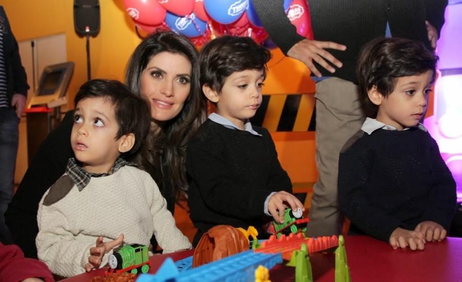 Isabella Fiorentino e filhos (Foto: Divulgação)