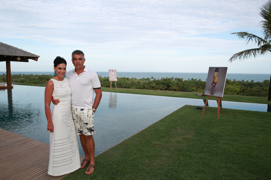 Marina Borges e Rogerio Saladino (Foto: AgNews)