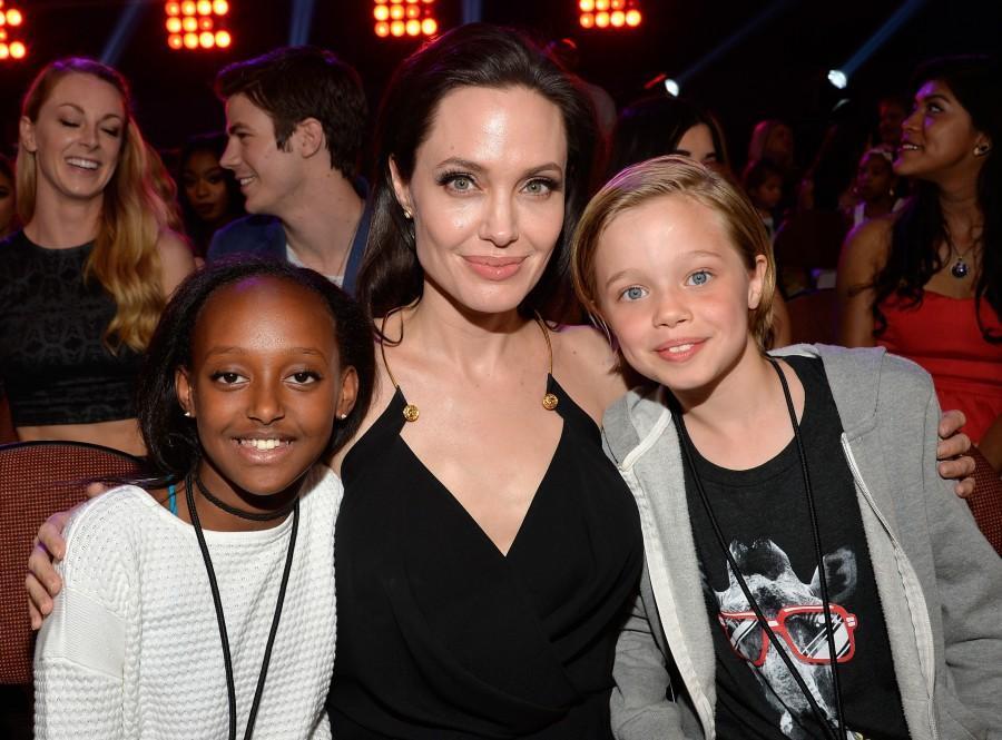 Angelina Jolie, Zahara Jolie-Pitt, Shiloh Nouvel Jolie-Pitt (Foto: Divulgação)