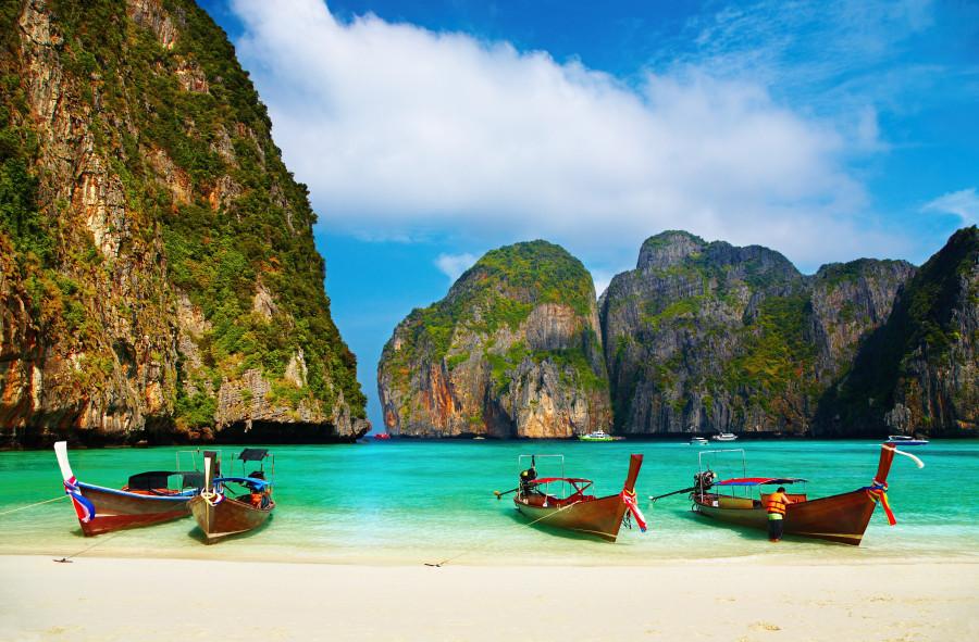 Tropical beach em Maya Bay na Tailândia (Foto: Divulgação)