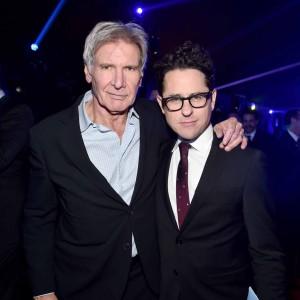 Ator Harrison Ford e diretor J.J. Abrams (Foto: Divulgação)
