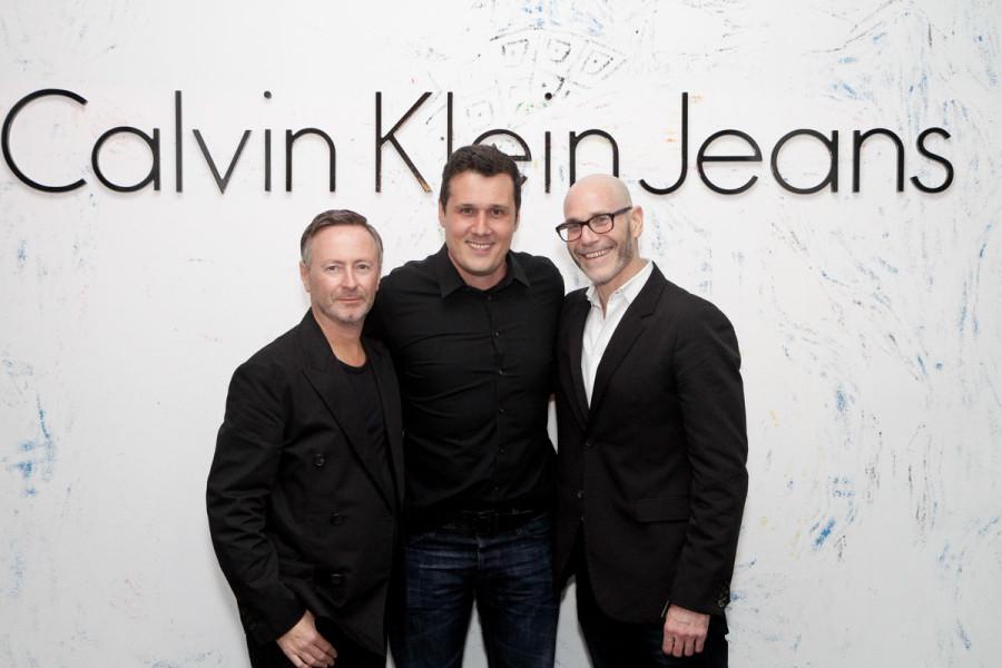 Kevin Carrigan, diretor de criação da Calvin Klein, Fabio Vasconsellos, da Calvin Klien Brasil e Steve Shiffman, CEO da Clavin Klein no evento de 2014 (Foto Divulgação)