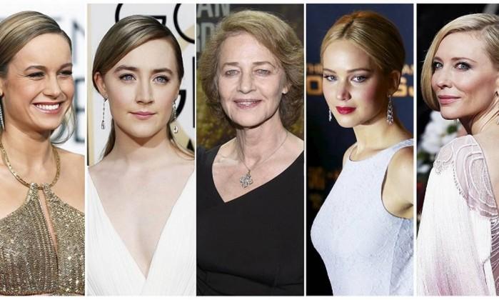 Brie Larson, Saoirse Ronan, Charlotte Rampling, Jennifer Lawrence, Cate Blanchett concorrem a categoria melhor atriz (Foto: Divulgação)