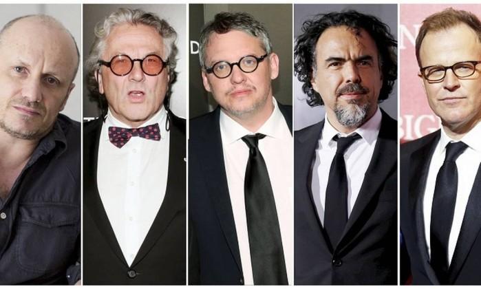 Lenny Abrahamson, George Miller, Adam McKay, Alejandro Inarritu and Tom McCarthy concorrem ao prêmio de direção (Foto: Divulgação)