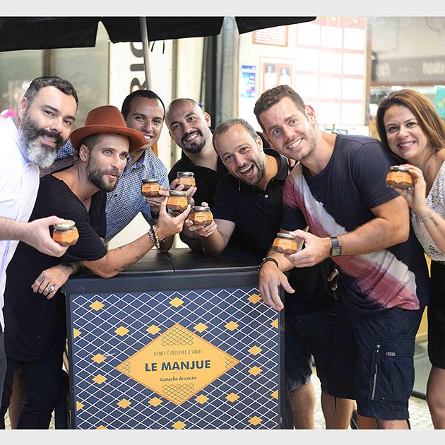 Renato Caleffi, Bruno Gagliasso, Rafael Miranda, Mauro Lemos, Bruno Fattori, Rodrigo Rvellino e Vica Dias (Foto: Divulgação)