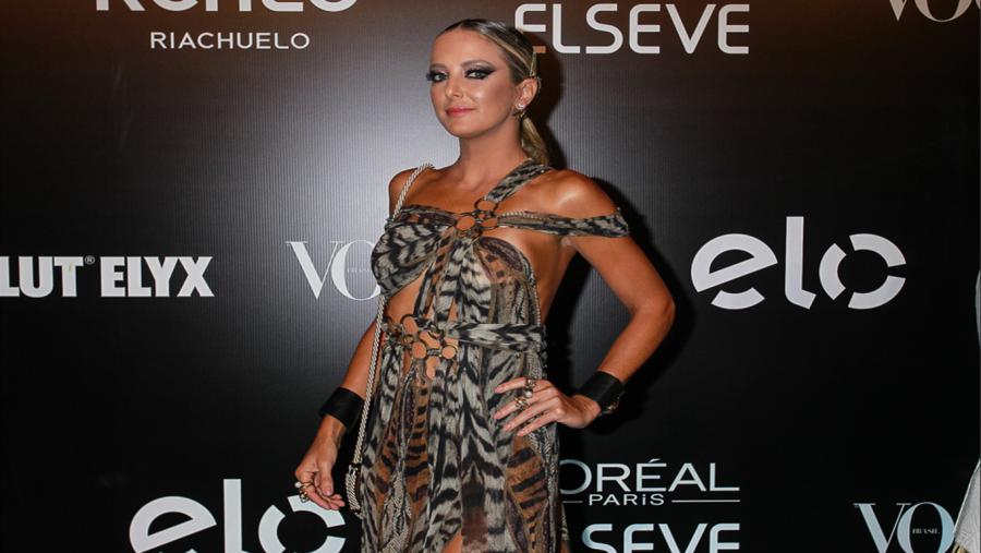 Ticiane Pinheiro com look animal print (foto: agnews)