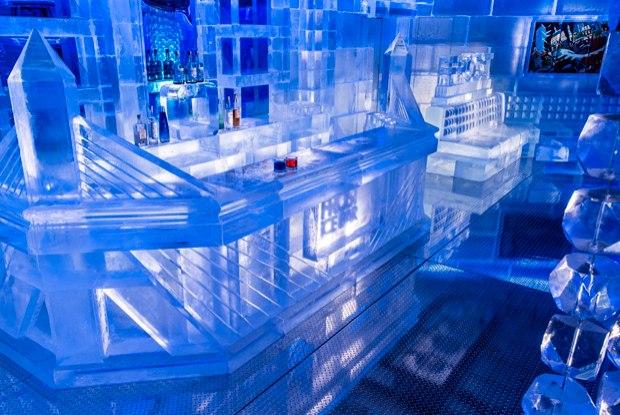 Bar de gelo chega a 10ºC abaixo de zero (Foto: Divulgação)