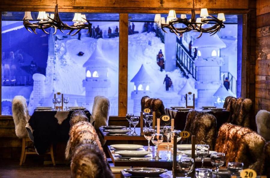 Restaurante no Snowland Gramado (Foto: Divulgação)