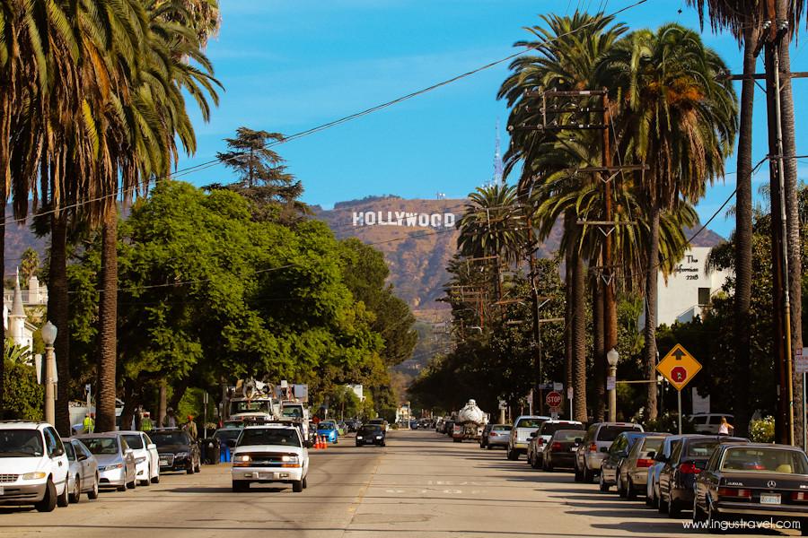 famoso letreiro hollywood signs é perto do local para tirar fotos (foto: divulgação)