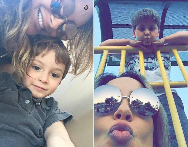 Claudia Leitte e filhos em Los Angeles (Foto: Divulgação)