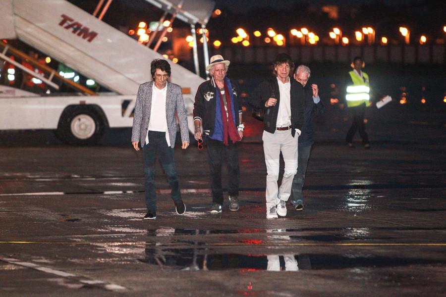 Rolling Stones desembarca no Rio de Janeiro (Foto: Divulgação)