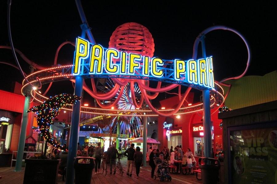 Pacific Park em Santa monica é opção para diversão de turistas (foto: divulgação)