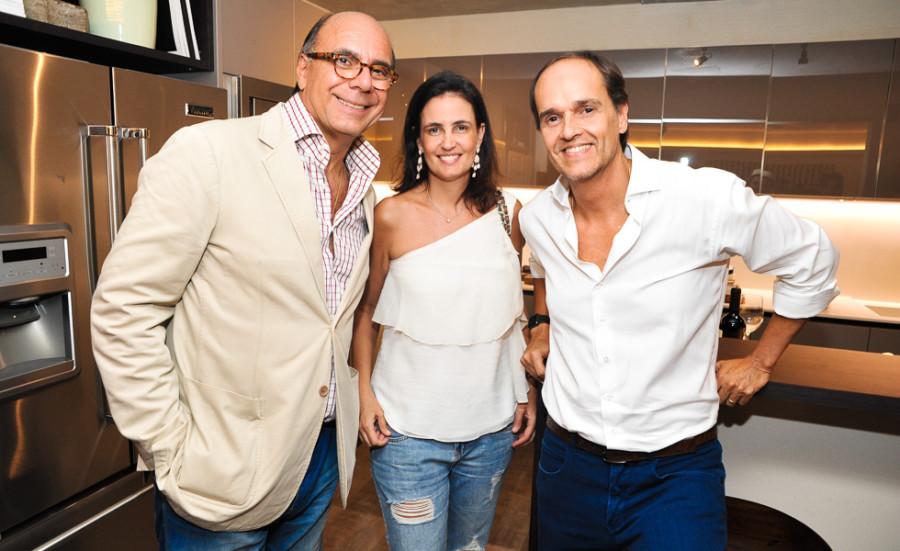 Arnaldo Danemberg,  Cristina Parente e Dado Castello Branco (Foto: Paulo Freitas)