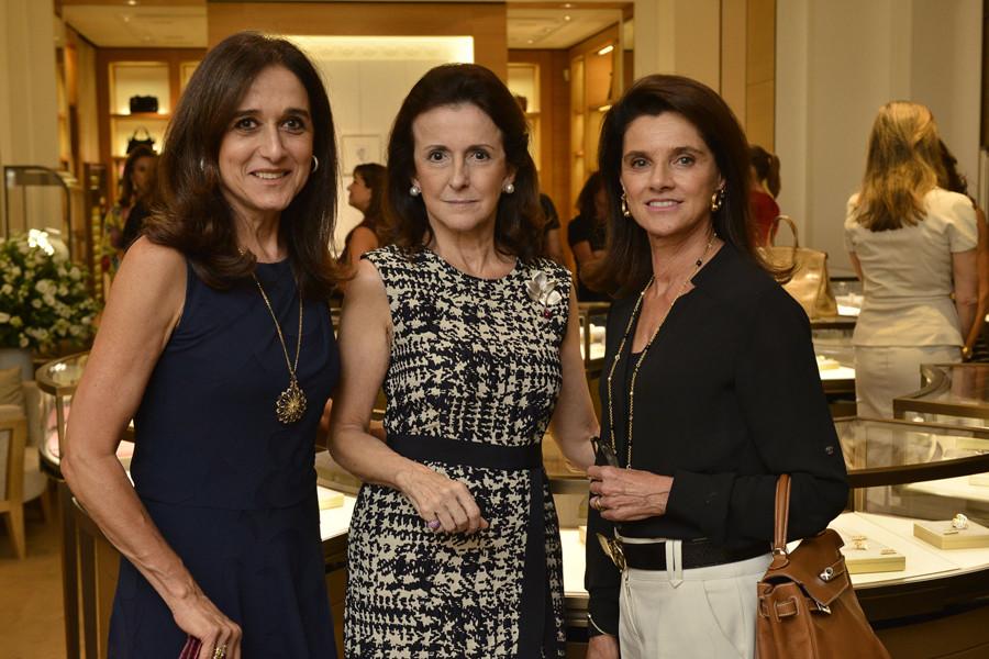 Rose Kalaigian, Kika Rivetti e Patricia de Abreu Pereira  (Foto: João Sal)