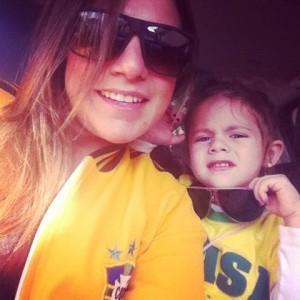empresária Renata Velloso e filha (Foto: Divulgação)