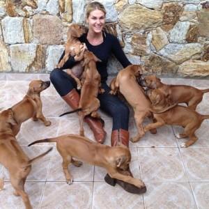 Ana Hickmann e alguns de seus pets (Foto: Divulgação)
