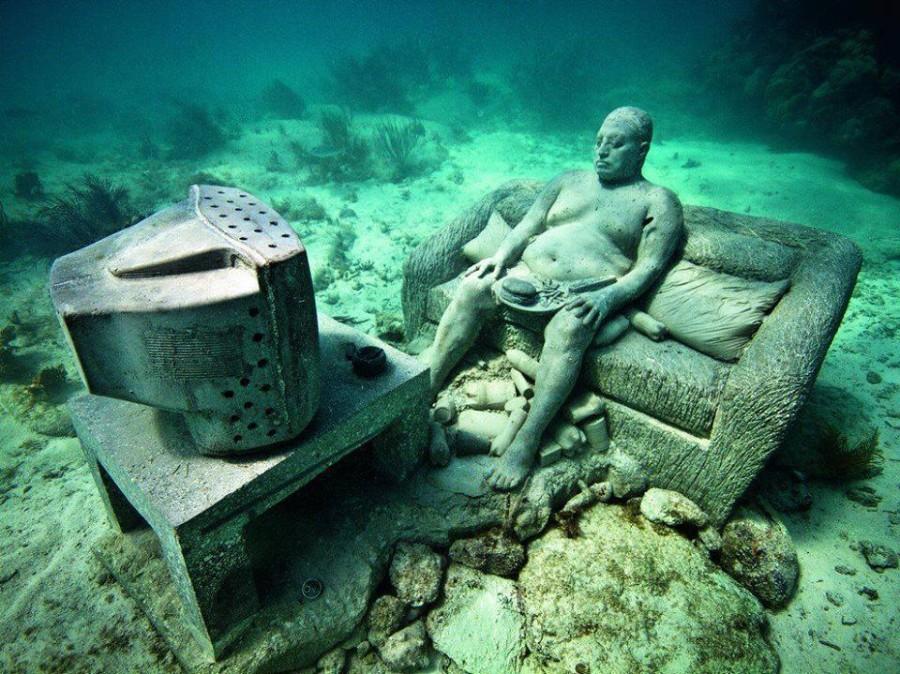 Museu Subaquático em Cancún (Foto: Divulgação)