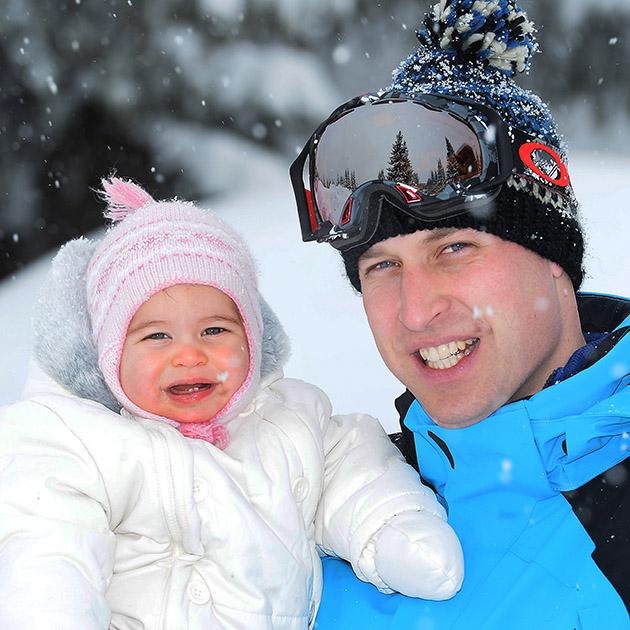 Princesa Charlotte e Príncipe William (foto: divulgação)