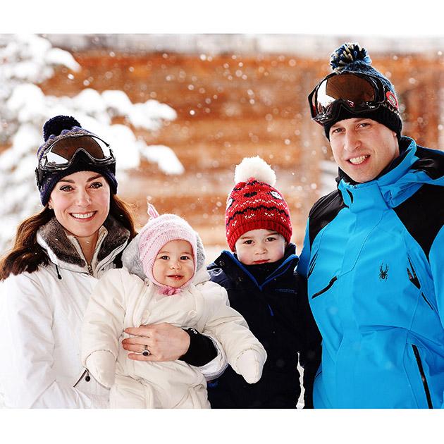 família real aproveita dia de neve (foto: divulgação)