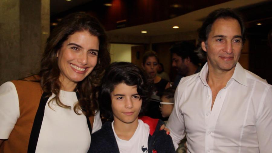 José Eduardo Kalil e família no musical (Foto: Nair Barros/ClaCrideias)