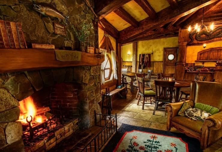 the green dragon pub, em hobbiton - nova zelândia (foto: divulgação)